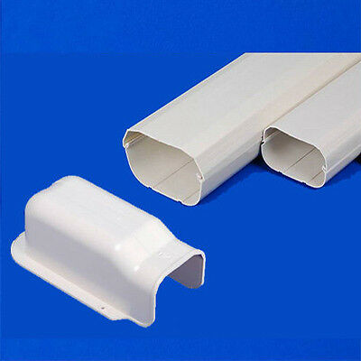 New Air Conditioner Wall Duct Cover PVC KIT Duct Split System 100mm 2m Length