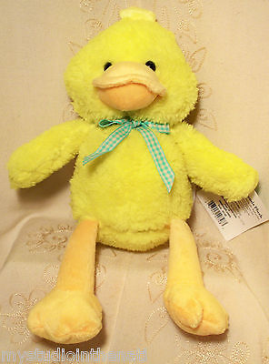 "EASTER BASKET SURPRISE 11"" Plush YELLOW DUCK CHICK MEADOW FRIENDS Stuffed Toy"