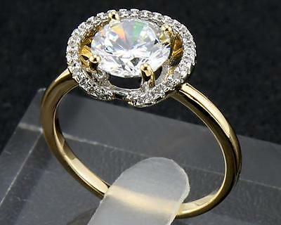 2.22 Carat Natural Diamond 14Kt Solid Yellow Gold  Rings Size7
