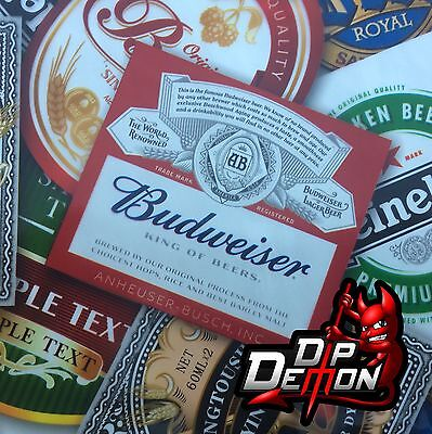 Beer Labels  Sticker Bomb Hydrographic Water Transfer Film Hydro Dip Dipping