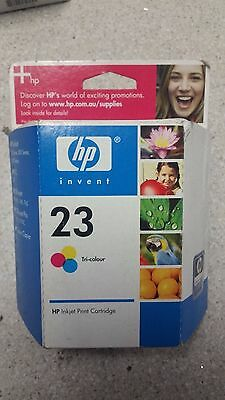 Genuine HP No 23, C1823D Colour Ink Cartridge New, See Photos