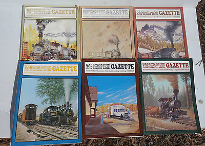 Mixed Lot of 6 Issues Narrow Gauge & Short Line Gazette, 1980's