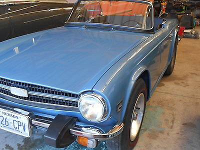 1974 Triumph TR-6 BLACK 1974 TRIUMPH TR6 RESTORED RUST FREE NEW INTERIOR NEW PAINT 2 OWNERS MANY EXTRAS