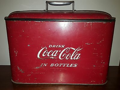 Vintage Coca Cola Cooler Coke Ice Chest With Bottle Opener