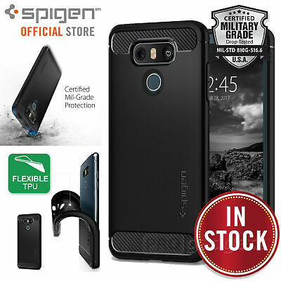 LG G6 Case, Genuine SPIGEN Rugged Armor Resilient Soft Tough Cover for LG