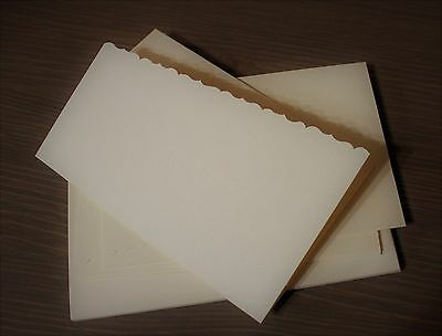 BUTTER #4 set of 5 cards with matching envelopes - Card Making - Rubber Stamping