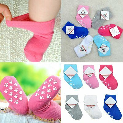 Newborn Baby Boy Girl 1 Pair Cartoon Cotton Socks Infant Toddler Kids Soft Sock