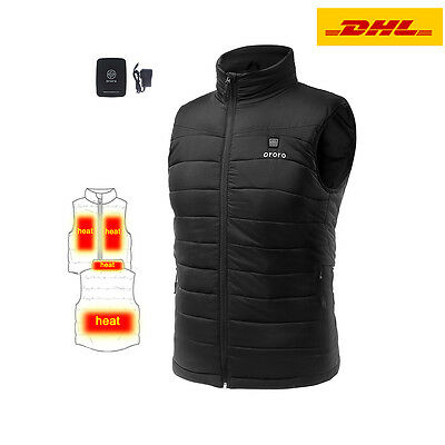 ORORO Men Mobile Heated Down Vest Motorcycle Hunting Hiking Winter Jackets