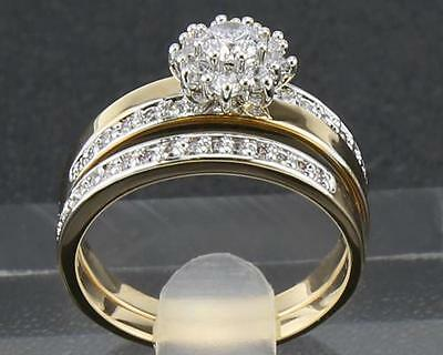 Antique Natural Diamond Couple Rings 1.67 Carat  In 14kt Solid Yellow Gold 7#
