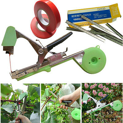 Flower Vegetable Hand Tying Binding Machine Garden Tapetool Tapener +Tapes Plant
