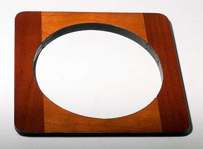 "1 Lens Board 4.5""sq. RC for Deardorff, Solid Cherry, 89mm hole, cherry finish"