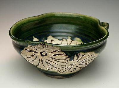 SUPERB ANTIQUE JAPANESE ORIBE TEA CEREMONY SWEETS BOWL Mino Pottery Kashiki