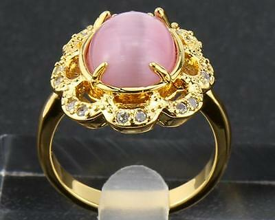 14K T Solid Yellow Gold  Rings  5.20 Carat Natural Diamond 14K Size8