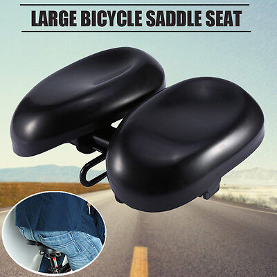 Adjustable soft Large Bike Bicycle Cycling Sprung Saddle Seat Unisex Comfortable