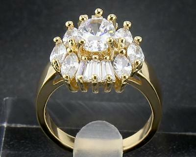 14Kt Solid Yellow Gold 5.23 Carat Natural Diamond   Rings Size8
