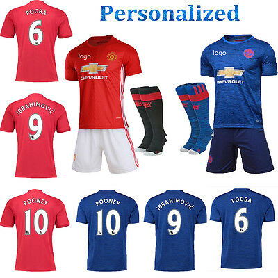 17 Football Short Sleeve Kit Soccer Shirt Jersey Kid Boy 3-14Y Youth Suit+Socks