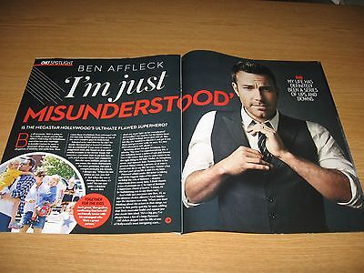 BEN AFFLECK - 2 page magazine clipping