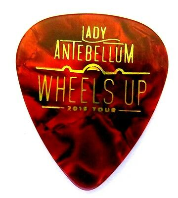 LADY ANTEBELLUM Guitar Pick -- Red Marble 2015 WHEELS UP Concert Tour REAL