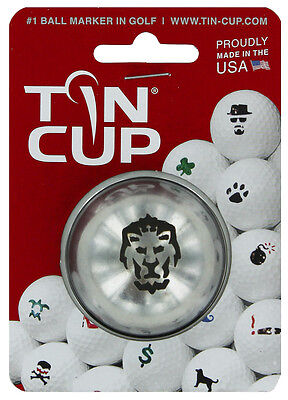 Tin Cup. Golf Ball Marker Sistema Big Cat