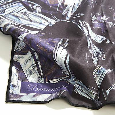 Beaumont Stylish Microfibre Cleaning Cloth Black Marble Flute Clarinet Sax