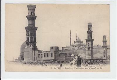 AK Cairo, Egypt, Tombs of Mamelukes and Citadel, 1910