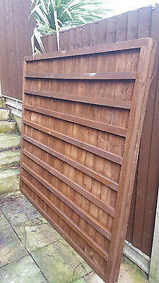 Super Heavy Duty Treated Wooden Timber Fence Panel Size6ft Zinc Screws