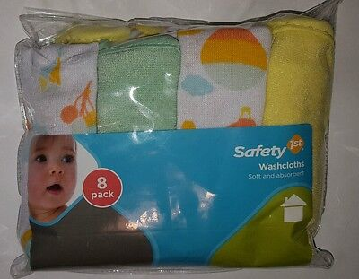 Infant Washcloths Safety First 8-pack new