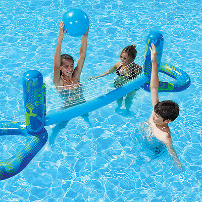 New Aquafun Pool Toy Volleyball Game Set Kids Outdoor Game with inflatable Ball