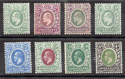 Somaliland KEVII-KGV mint MH collection (8V) WS3489