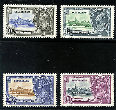 Seychelles 1935 KGV Silver Jubilee set complete MNH. SG 128-131. Sc 118-121.