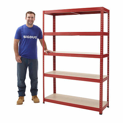 Boltless 5 Levels Garage Shelving Bay