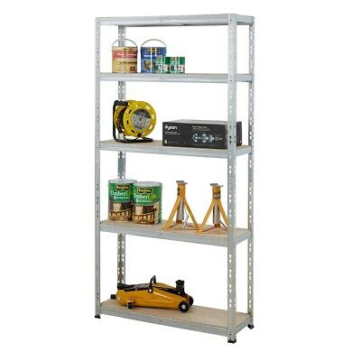 Garage Shelving Storage Storeroom Racking Shelves 130kg UDL 5 Tier Unit BiGDUG