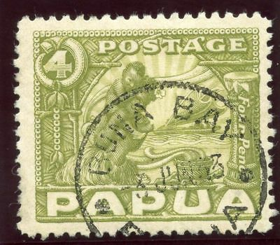 Papua 1932 KGV 4d olive-green very fine used. SG 135. Sc 99.
