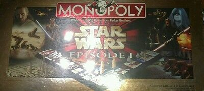 1999 Star Wars Episode 1 3D Monopoly Hasbro Parker Brothers Nib Lucas Films