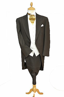 TORRE Brown Wool Tailcoat Jackets Formal Wedding Excellent Condition