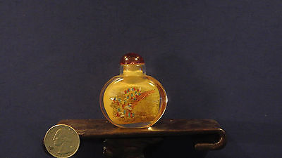 Antique Hand Painted Glass Snuff Bottle