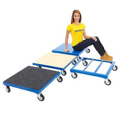 Heavy Duty Flat Bed Platform Dolly Steel 200kg UDL