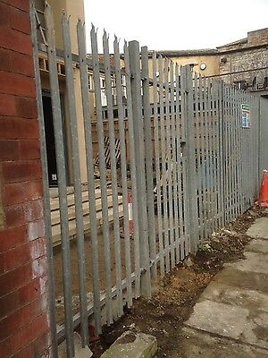 steel palisade security fencing and gate