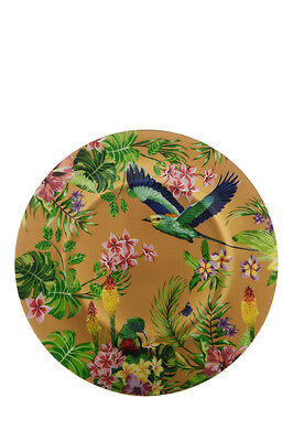 NEW Cashmere Birds of Paradise Plate, Gift Boxed, 19cm - Golden