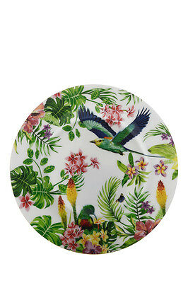 NEW Cashmere Birds of Paradise Plate, Gift Boxed, 19cm - White
