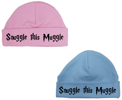 8a4b0bc7a3f HARRY POTTER New Round Baby Hat SNUGGLE THIS MUGGLE