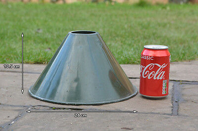 vintage enamel lamp shades old aluminum industrial light shade FREE DELIVERY