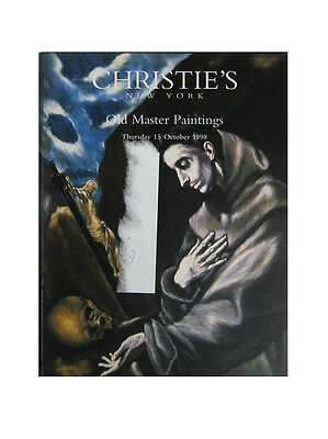 Christie's New York Old Master Paintings 15 October 1993 Auction Catalog