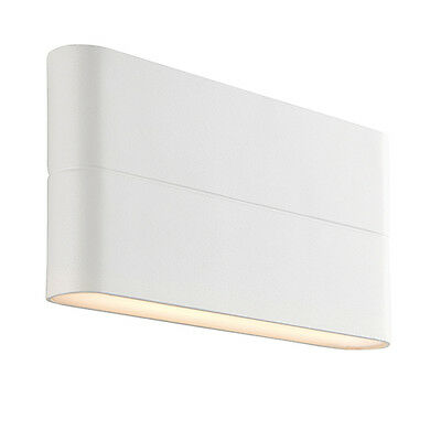 Saxby 69930 HANFORD Twin Up/Down Matt White Slim LED 6W IP44 Outdoor Wall Light