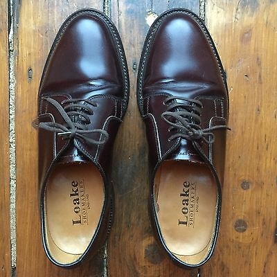 Mens Loake Oxblood Red Leather Brogue Lace up Shoes - Size UK 7 EU 39/40 - Rare