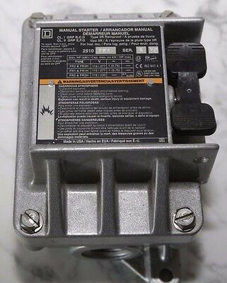 Electric Motor Manual Starter SQUARE-D-2510FR1-FHP-NEMA-7-9