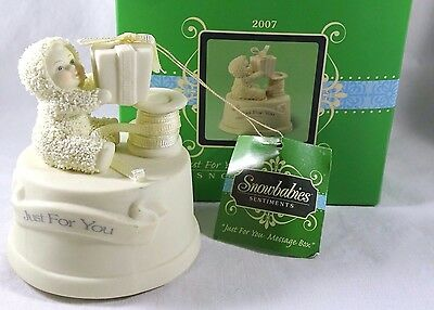 Dept 56 Snowbabies Ornament Just For You Message Box