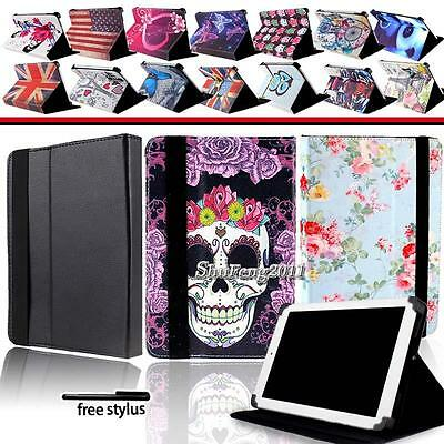 """Universal Folio Leather Case Cover For 7"""" 8.0"""" 9"""" 9.7""""10"""" Android Tablet PC +Pen"""