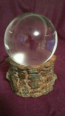 crystal ball wicca alter scrying ball wiccan piece new age item