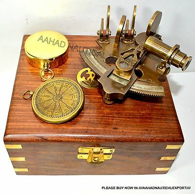 Solid Brass Sextant Nautical Maritime Astrolabe Marine Gift Ships